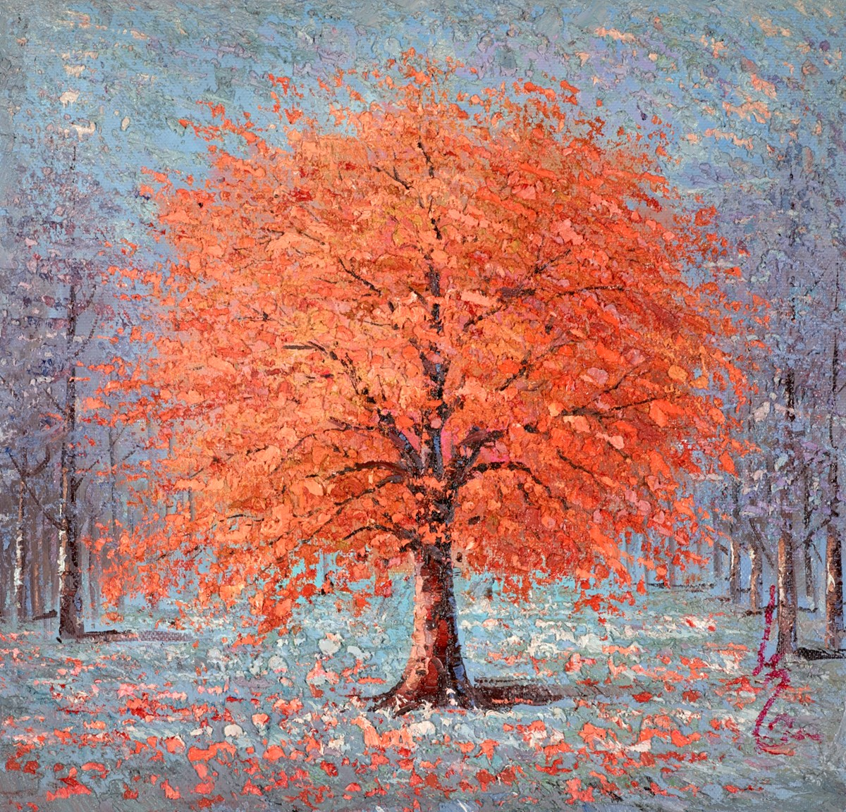 Autumn Gold V by inam -  sized 30x30 inches. Available from Whitewall Galleries